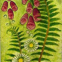 foxgloves glass panel