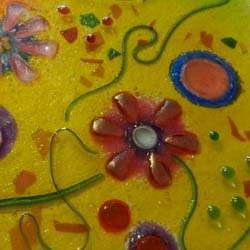 windows & screens - flowers art glass