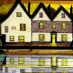 The Passage House Inn art glass
